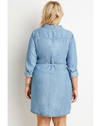 Forever 21 Plus Size Belted Chambray Shirt Dress You\'ve Been Added ...