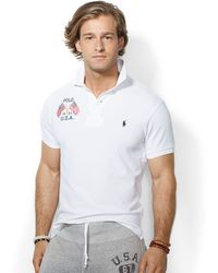 Polo Ralph Lauren Customfit Usa Polo - Lyst