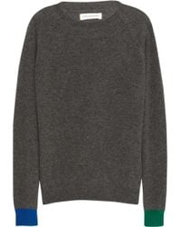 Chinti And Parker Contrastcuff Cashmere Sweater - Lyst