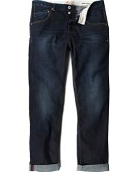 River Island Dark Wash Chester Tapered Jeans - Lyst