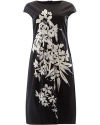 Max Mara Studio Barbano Floral Graphic Print Shift Dress - Lyst