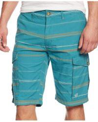 LRG Striped Cargo Shorts - Lyst