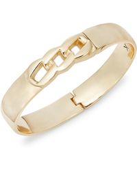 Karen Kane - Chain Link Goldtone Bangle Bracelet - Lyst