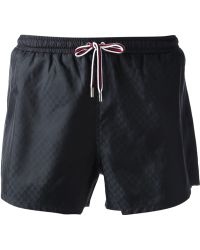 Gucci Monogram Print Swim Shorts - Lyst