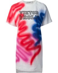 Viktor & Rolf Graffiti Print Sweater Dress - Lyst