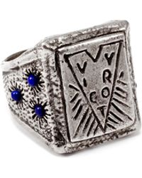 Lulu Frost G. Frost Victory Lapis Ring - White Bronze silver - Lyst