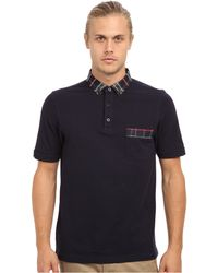 Fred Perry House Tartan Collar Polo - Lyst