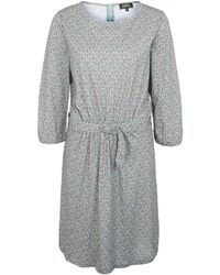 A.P.C. - Blue Floral Belted Cotton Dress - Lyst