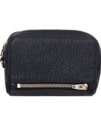 Alexander Wang Navy Grained Leather Fumo Large Wallet - Lyst