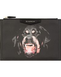 Givenchy Black Rottweiler Antigona Medium Zip Pouch - Lyst