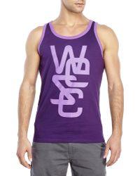 Wesc Overlay Classic Tank purple - Lyst