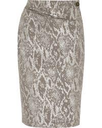 Vivienne Westwood Anglomania Isolation Metallic Snakejacquard Skirt - Lyst