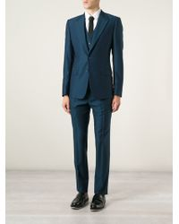 Dolce & Gabbana Classic Three-Piece Suit teal - Lyst