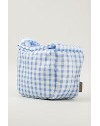 Carven Blue Gingham Bag - Lyst