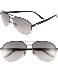 Gucci Women'S 62Mm Special Fit Metal Aviator Sunglasses - Black - Lyst