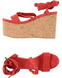 Isabel Marant Sandals red - Lyst