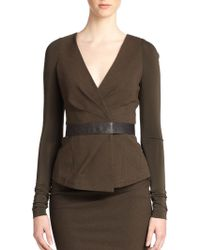 Donna Karan New York Belted Jersey Jacket - Lyst