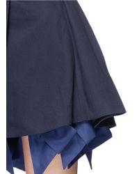 Anna K - Bow Tie Underlay Cotton Skirt - Lyst