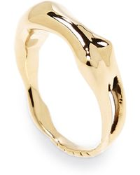 Aurelie Bidermann Body 18k Goldplated Ring - Lyst