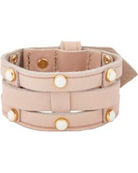 Isabel Marant Studded Leather Bracelet - Lyst
