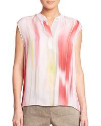 Elie Tahari Decklan Blouse multicolor - Lyst