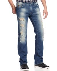 Guess Armada Wash Slim Straight Jeans - Lyst