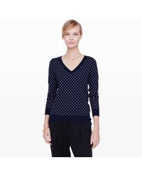 Club Monaco Agnes Jacquard V-Neck Sweater - Lyst