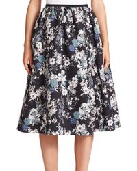 Erdem   Sofia Matelassé Floral Skirt   Lyst