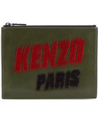 Kenzo Paris Pouch Dark Khaki - Lyst