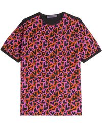 Emanuel Ungaro Heart Print Cotton T-Shirt - Lyst