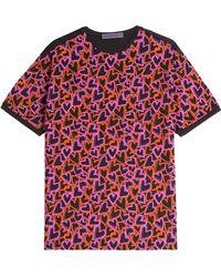 Emanuel Ungaro Heart Print Cotton T-Shirt - Lyst