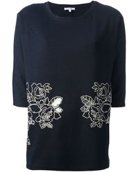 Carven Floral Embroidered Top - Lyst