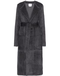 Edun Wool Coat with Suede Pockets - Lyst