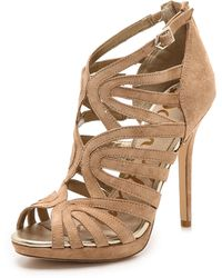 Sam Edelman Eve Caged Sandals  Black - Lyst