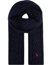 Ralph Lauren Aran Cable Knit Scarf - Lyst