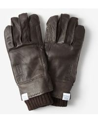 Norse Projects Norse X Hestra Leather Gloves - Lyst