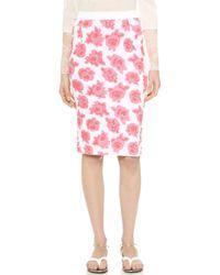 Nina Ricci Floral Skirt - Blancorchid - Lyst