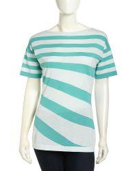 Lafayette 148 New York Drop-Shoulder Mixed Stripe Sweater - Lyst
