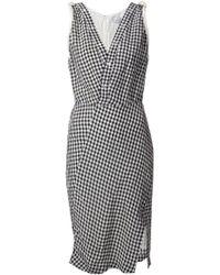 Altuzarra V-Neck Gingham Dress - Lyst