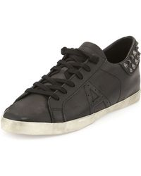 Ash Spot Studded Leather Lowtop Sneaker - Lyst