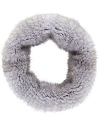 Barneys New York Stretch Fur Cowl - Lyst