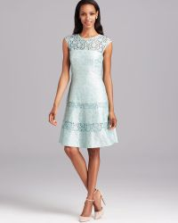 Kay Unger Dress Bonded Lace - Lyst