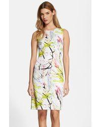 Milly Women'S Scribble Print Sheath Dress - Lyst