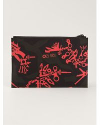 Kenzo Red Monster Clutch - Lyst