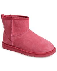 Ugg 'Classic Mini - Crystal Bow' Boot pink - Lyst