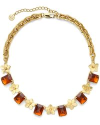Tory Burch Cecily Short Necklace - Lyst