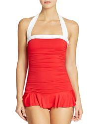 Lauren by Ralph Lauren Bel Aire Skirted Swimsuit - Lyst