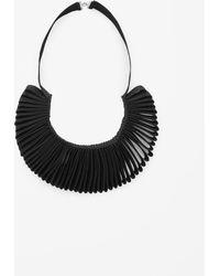 Cos Folded Ribbon Necklace - Lyst