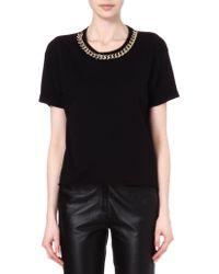 Sandro Toto Chain Collar T-shirt - Lyst