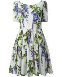 Dolce & Gabbana Wisteria Print Dress white - Lyst